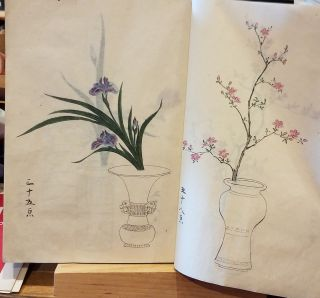 Japanese Book of 206 Hand Colored Flower Prints
